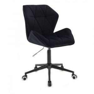Židle MILANO MAX VELUR na černé podstavě s kolečky - černá