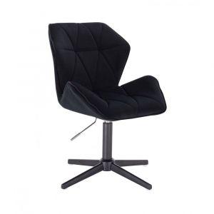 Židle MILANO MAX VELUR na černém kříži - černá