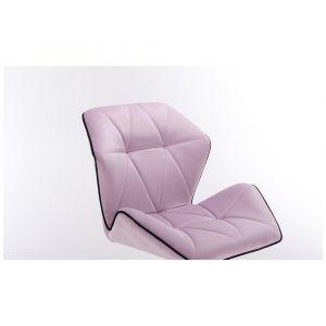 Židle MILANO MAX VELUR na černém kříži - fialový vřes