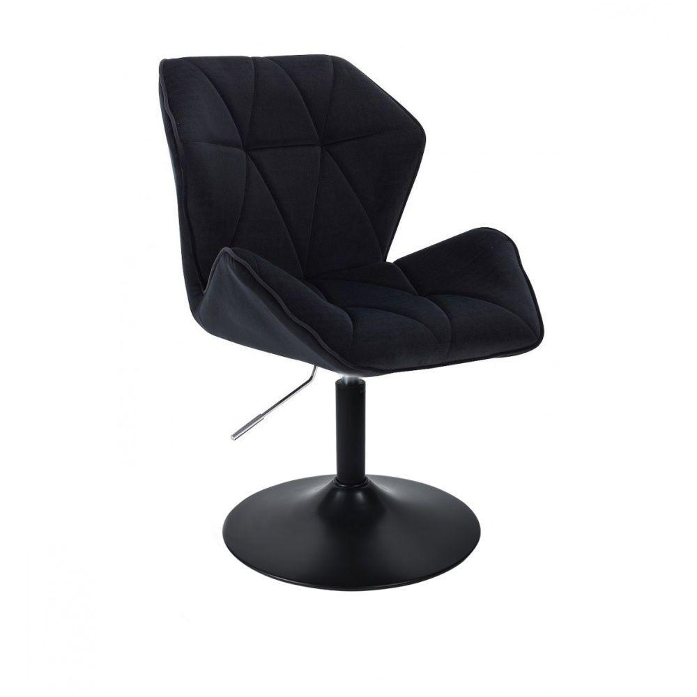 Židle MILANO MAX VELUR na černém talíři - černá