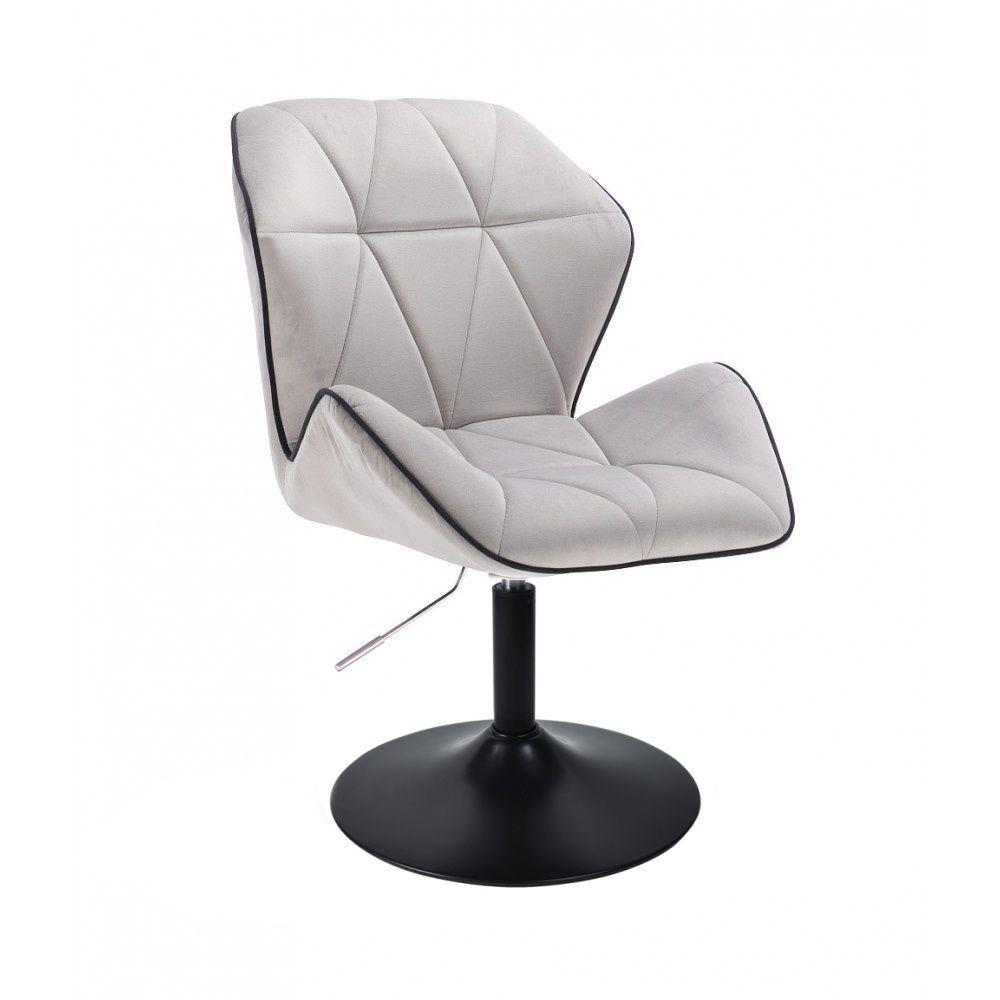 Židle MILANO MAX VELUR na černém talíři - šedá