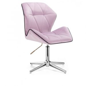 Židle MILANO MAX VELUR na stříbrném kříži - fialový vřes