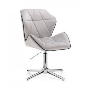 Židle MILANO MAX VELUR na stříbrném kříži - šedá