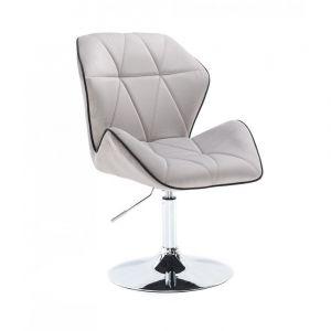 Židle MILANO MAX VELUR na stříbrném talíři - šedá