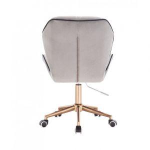 Židle MILANO MAX VELUR na zlaté základně s kolečky - šedá