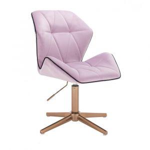 Židle MILANO MAX VELUR na zlatém kříži - fialový vřes