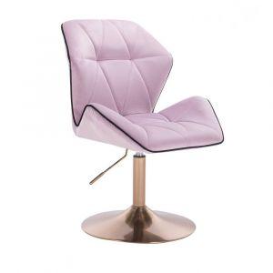 Židle MILANO MAX VELUR na zlatém talíři - fialový vřes