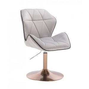 Židle MILANO MAX VELUR na zlatém talíři - šedá