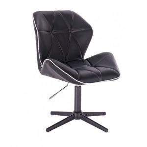 Kosmetická židle MILANO MAX na černém kříži - černá