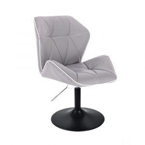 Kosmetická židle MILANO MAX na černém talíři - šedá