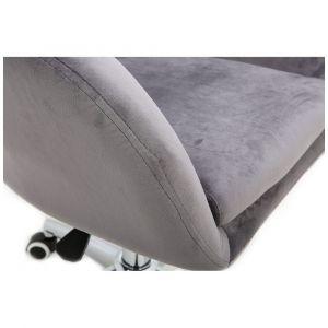 Kosmetická židle VENICE VELUR na černém talíři - světle šedá