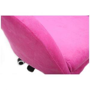 Kosmetická židle VENICE VELUR na zlatém talíři - růžová