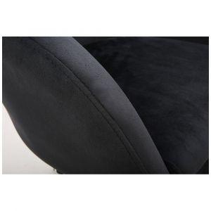 Židle VENICE VELUR na stříbrném talíři - černá