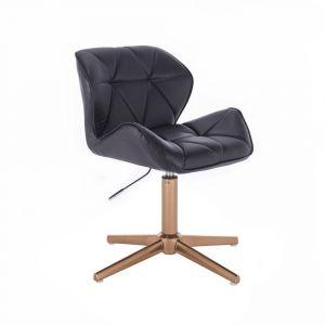 Židle MILANO na zlatém kříží - černá