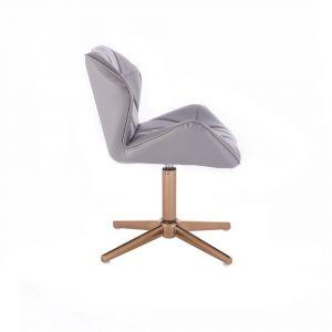 Židle MILANO na zlatém kříží - šedá