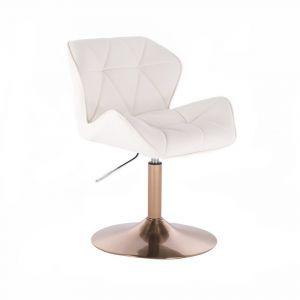 Židle MILANO na zlatém talíři - bílá