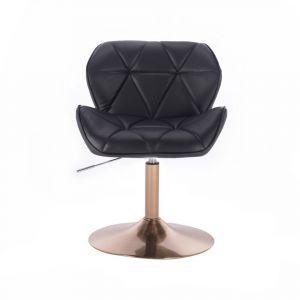 Židle MILANO na zlatém talíři - černá