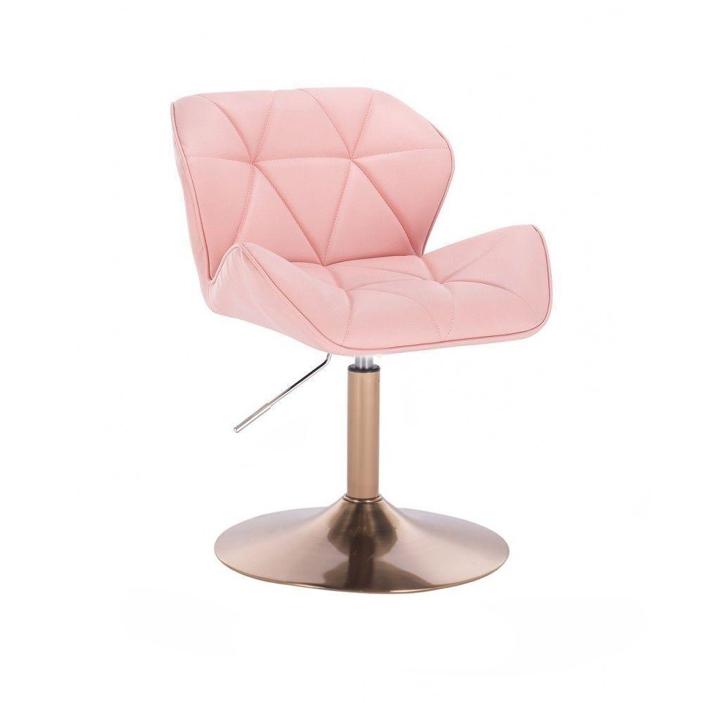 Židle MILANO na zlatém talíři - růžová