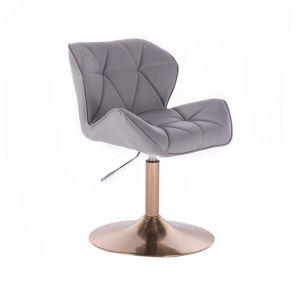 Židle MILANO na zlatém talíři - šedá