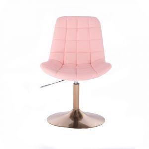 Kosmetická židle PARIS na zlatém talíři - růžová