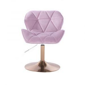 Židle MILANO VELUR na zlatém talíři - fialový vřes