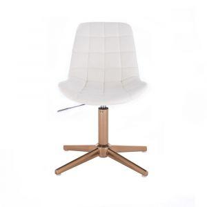 Židle PARIS na zlatém kříži - bílá