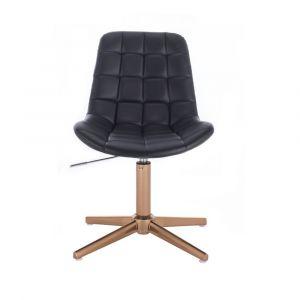 Židle PARIS na zlatém kříži - černá