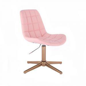 Židle PARIS na zlatém kříži - růžová