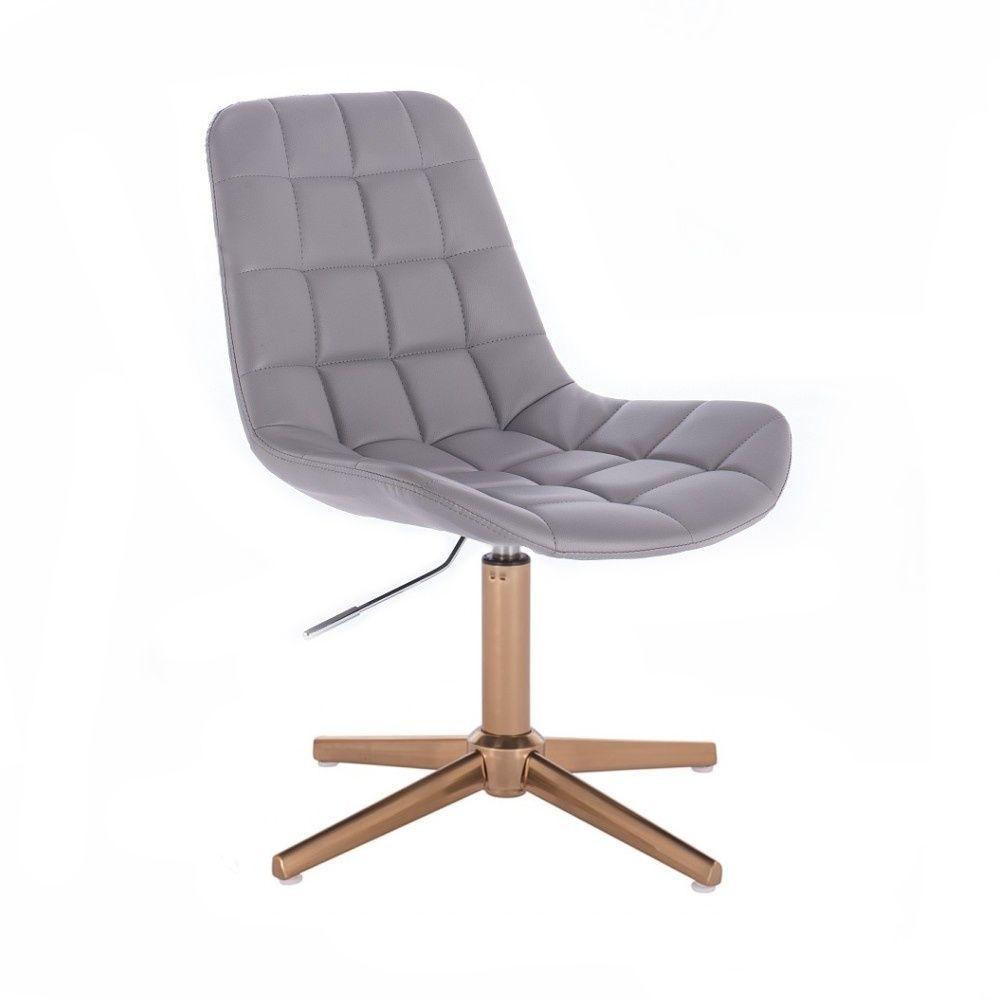 Židle PARIS na zlatém kříži - šedá