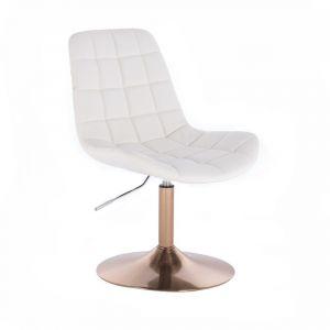 Židle PARIS na zlatém talíři - bílá