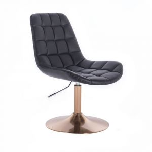 Židle PARIS na zlatém talíři - černá