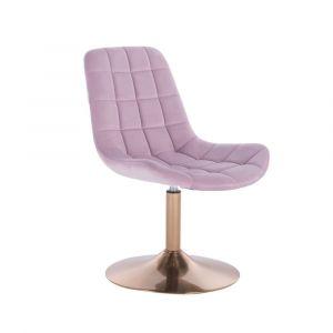 Židle PARIS na zlatém talíři - fialový vřes