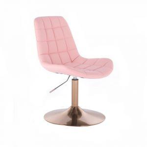 Židle PARIS na zlatém talíři - růžová