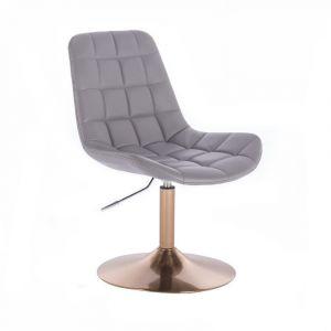 Židle PARIS na zlatém talíři - šedá