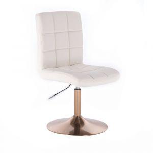Kosmetická židle TOLEDO na zlatém talíři - bílá