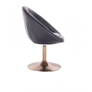 Kosmetické křeslo VERA na zlatém talíři - černé