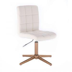 Židle TOLEDO na zlatém kříži - bílá