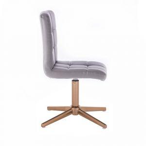 Židle TOLEDO na zlatém kříži - šedá