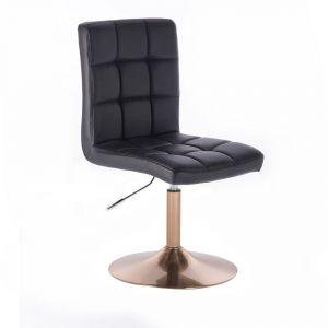 Židle TOLEDO na zlatém talíři - černá