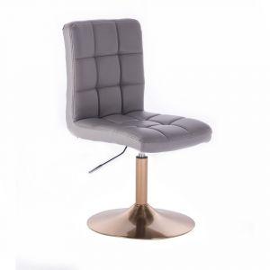 Židle TOLEDO na zlatém talíři - šedá