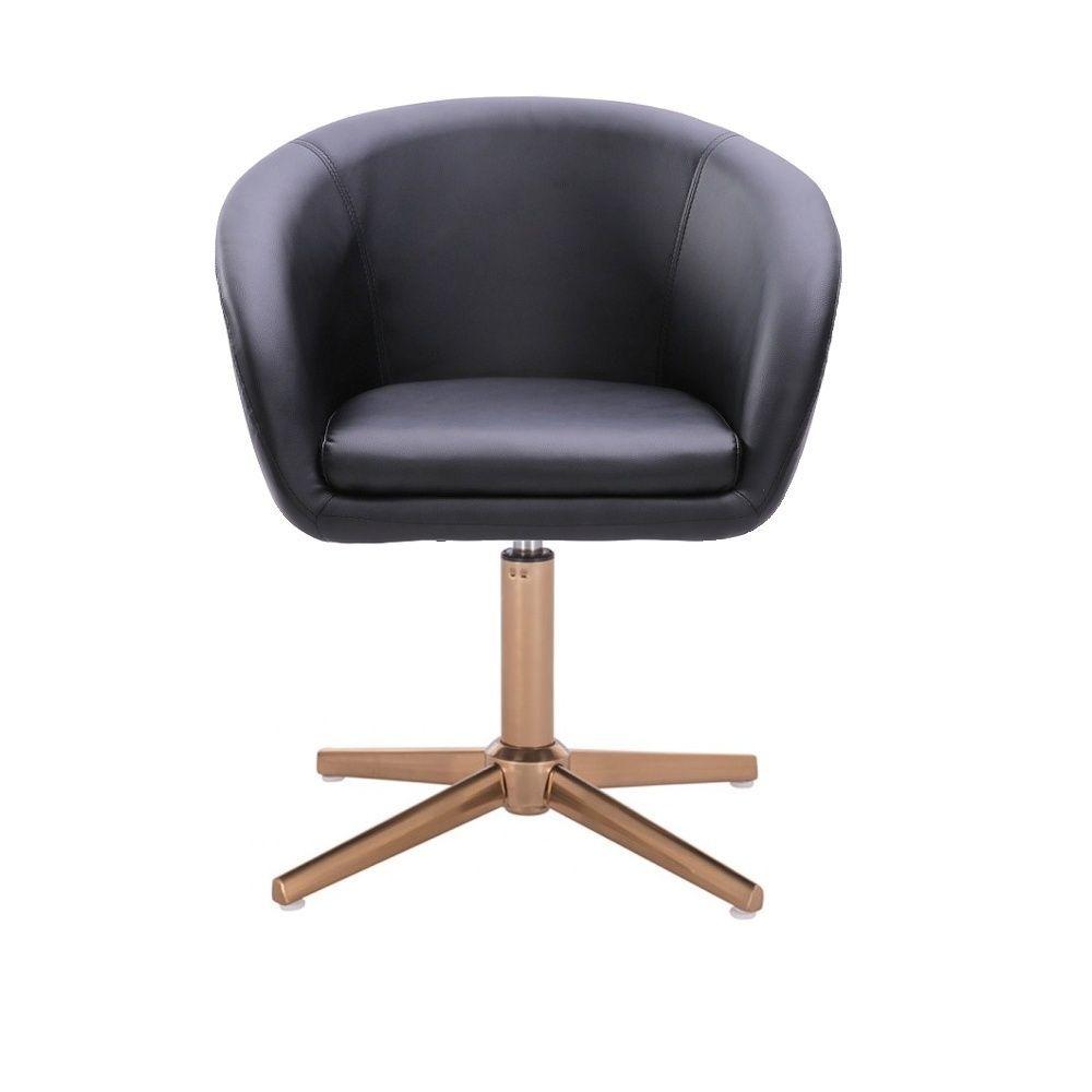 Židle VENICE na zlatém kříži - černá