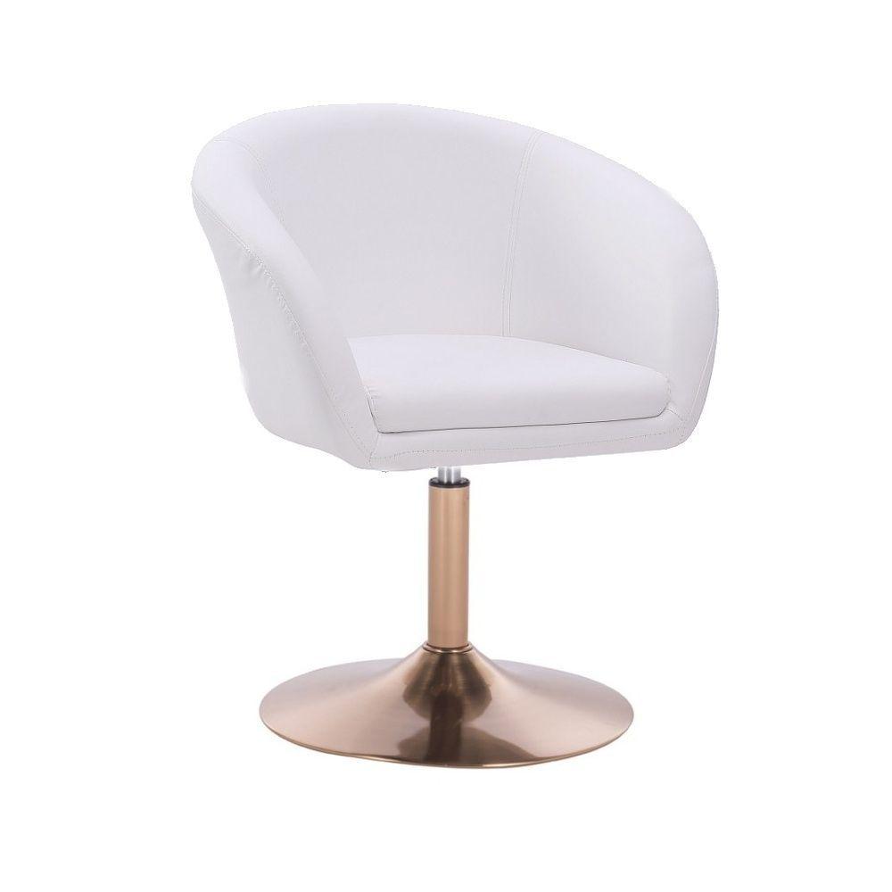 Židle VENICE na zlatém talíři  - bílá