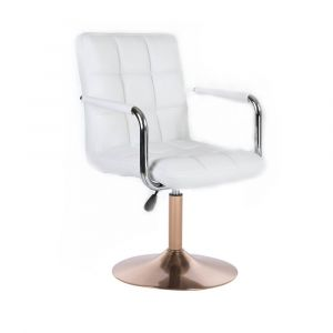 Židle VERONA na zlatém talíři - bílá