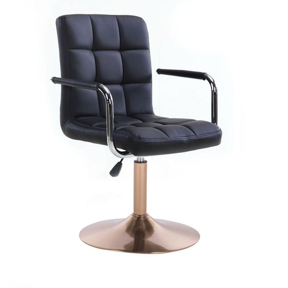 Židle VERONA na zlatém talíři - černá