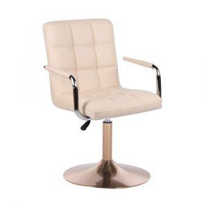 Židle VERONA na zlatém talíři - krémová