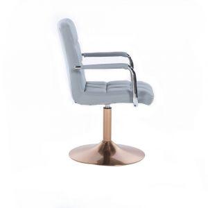 Židle VERONA na zlatém talíři - šedá