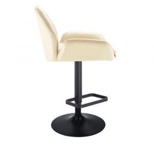 Barová židle LION na černém talíři - krémová