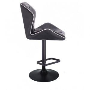 Barová židle MILANO MAX na černém talíři - černá
