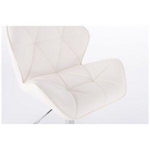 Barová židle MILANO na černém talíři  - bílá
