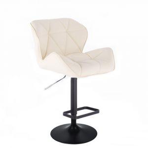 Barová židle MILANO na černém talíři  - krémová